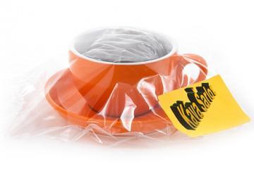 Kávový šálek cappuccino oranž