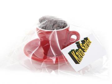 Kávový šálek espresso červený