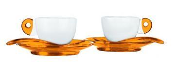Guzzini šálky espresso oranž