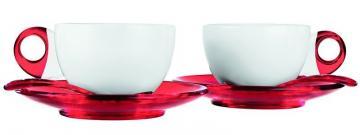 Guzzini šálky cappuccino červené