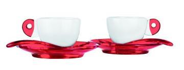 Guzzini šálky espresso červené
